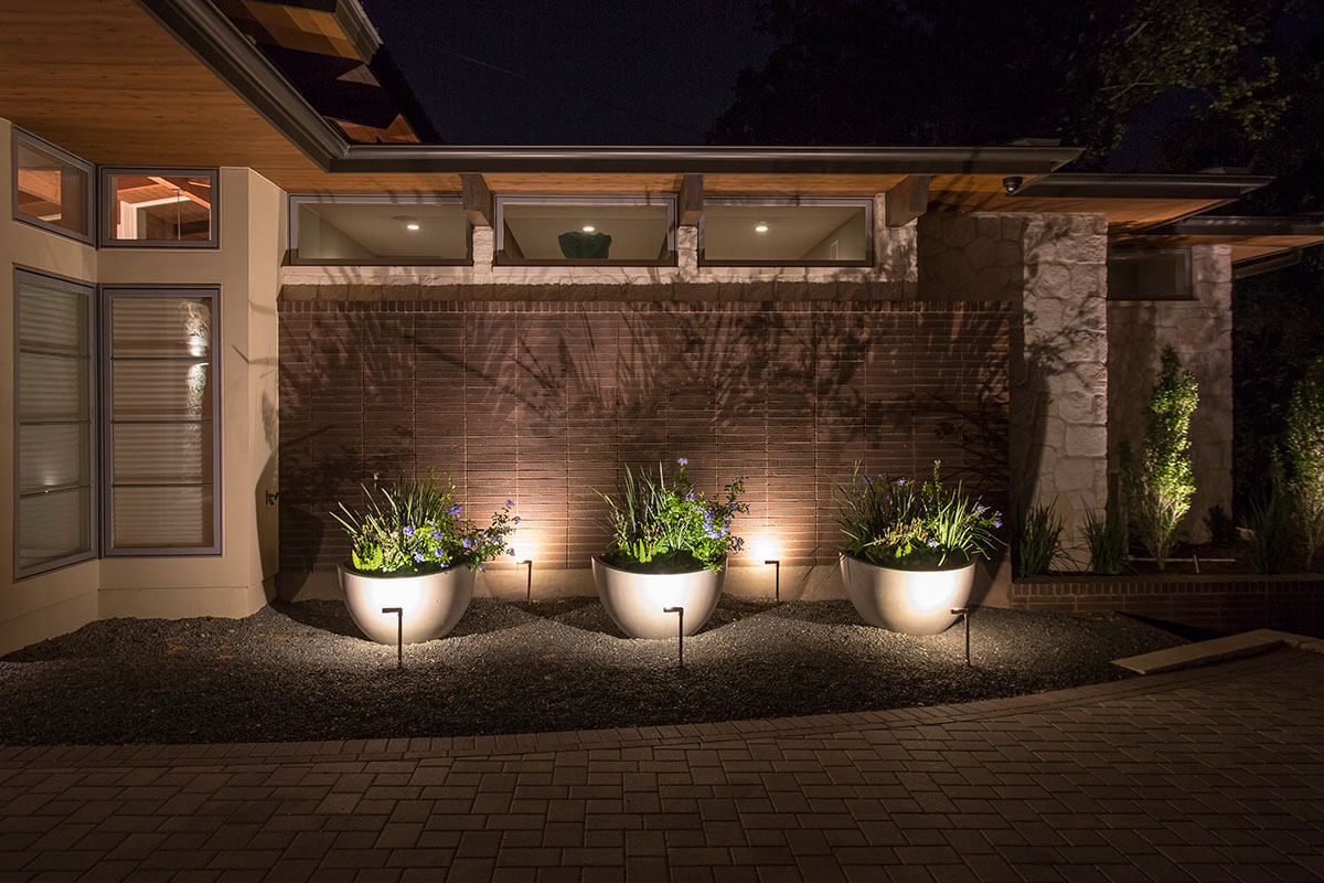 Austin Outdoor Lighting Outdoor lighting solutions for a lake austin mid century bungalow post navigation workwithnaturefo